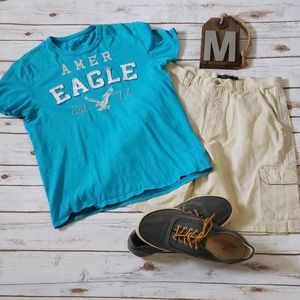 American Eagle turquoise Athletic Fit tee